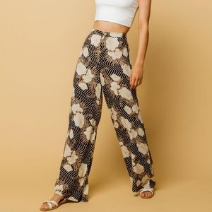 Amuse Society Wide Leg Floral Print Pants